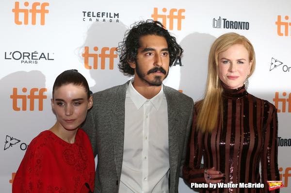 Rooney Mara, Dev Patel and Nicole Kidman