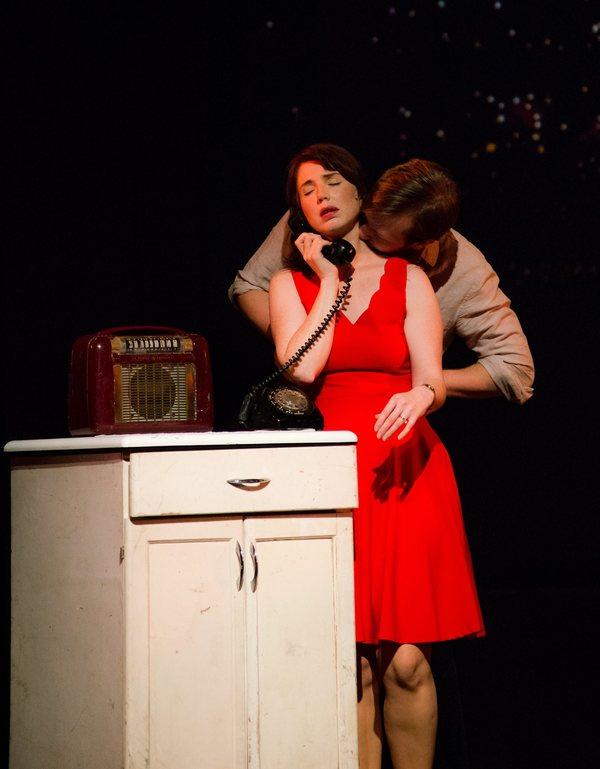 Elisa Matthews as Francesca and Derek Basthemer as Robert  Photo