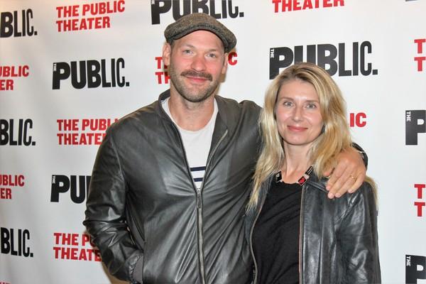 Corey Stoll and Nadia Bowers