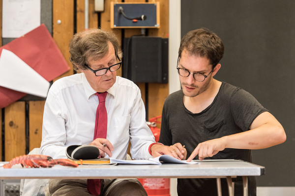 Photo Flash: The Cast of David Hare's New Play Rehearses THE RED BARN