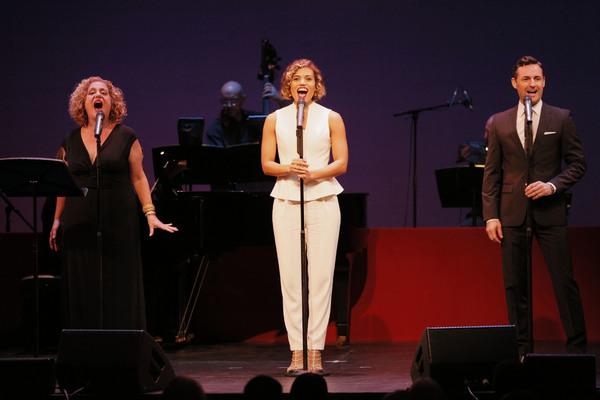 Mary Testa, Ciara Renee, and Max von Essen