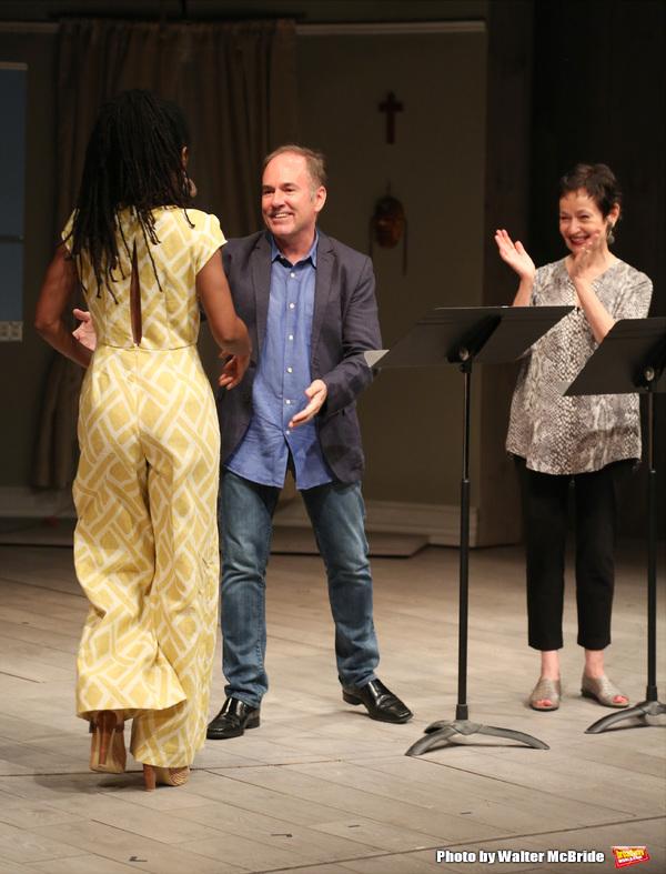 Chisa Hutchinson, Lynn Ahrens and Stephen Flaherty