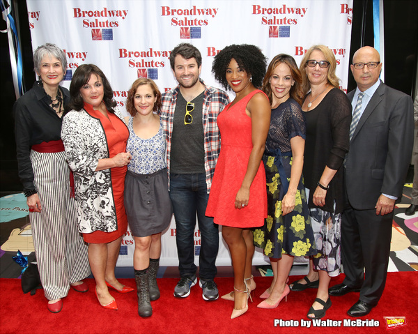Nina Lannan, Charlotte St. Martin, Daisy Eagan, Alex Brightman, Rashidra Scott, Leslie Kritzer, Laura Penn and Anthony DePaulo attends theLaura Penn and Anthony DePaulo