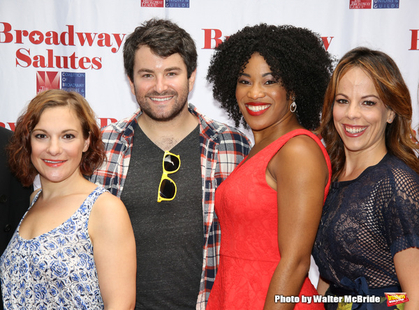 Daisy Eagan, Alex Brightman, Rashidra Scott and Leslie Kritzer