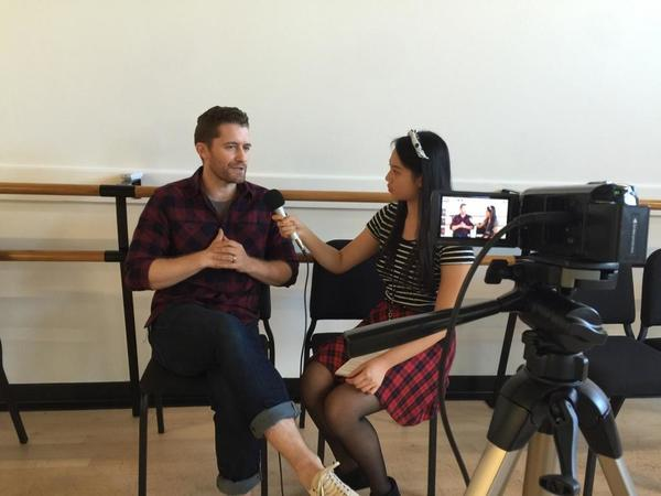 Matthew Morrison and journalist Cassandra Hsiao