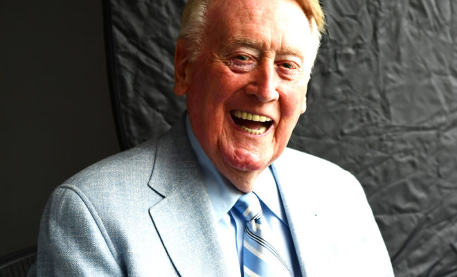 Espn To Honor Vin Scully On Tonight S Wednesday Night Baseball
