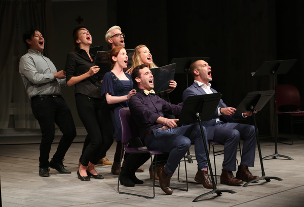 The cast of FEARSOME FRANK during the Stage Presentation of Dramatists Guild Fund Fellows 2015-2016 at Playwrights Horizons.