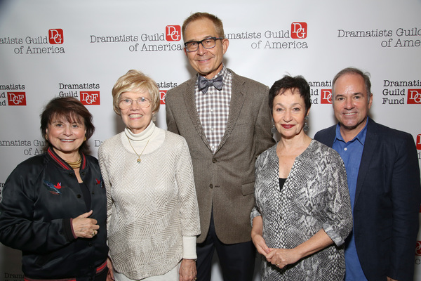 Iris Rainer Dart, Helen Lee Henderson, Janis Purins, Lynn Ahrens and Stephen Flaherty