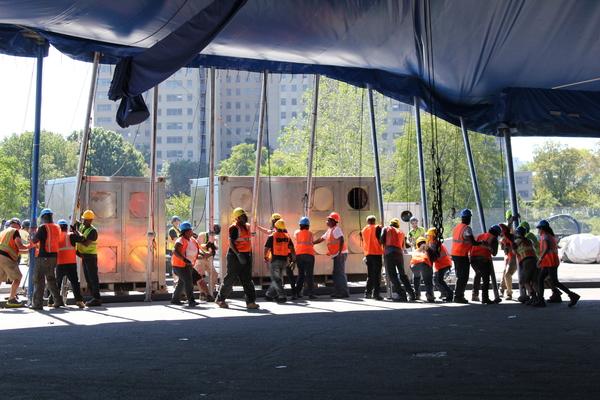 Cirque du Soleil's Big Top Raising for 'KURIOS'