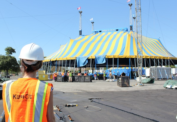 Cirque du Soleil's Big Top Raising for 'KURIOS'