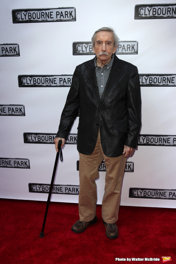 Edward Albee attending the Broadway Opening Night Performance of 'Clybourne Park' at the Walter Kerr Theatre in New York City on 4/19/2012