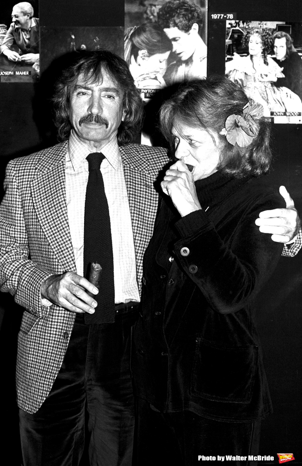 Estelle Parsons and Edward Albee Attending a party at the Circle In The Square Theatre,.New York City.November 1982.