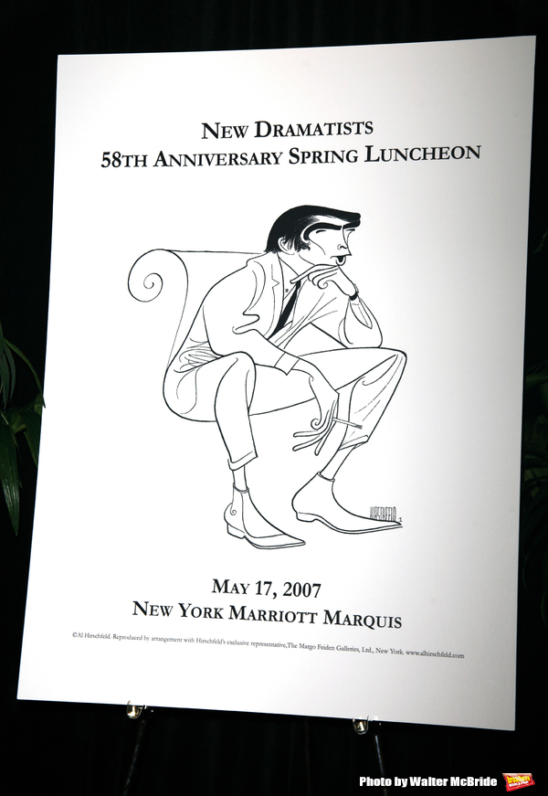 Edward Albee (Hirschfeld Poster ) at the New Dramatists 58th Annual Spring Luncheon to honor Edward Albee at the Mariott Marquee Hotel in New York City..May 17th, 2007.