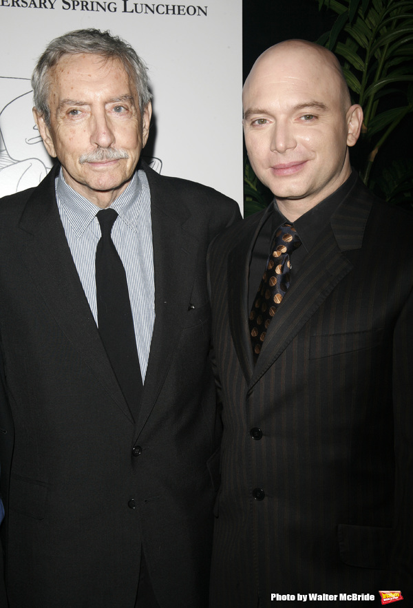 Edward Albee & Michael Ceveris attending the New Dramatists 58th Annual Spring Luncheon to honor Edward Albee at the Mariott Marquee Hotel in New York City..May 17th, 2007.Edward Albee & Michael Ceveris attending the New Dramatists 58th Annual Spring Lunc