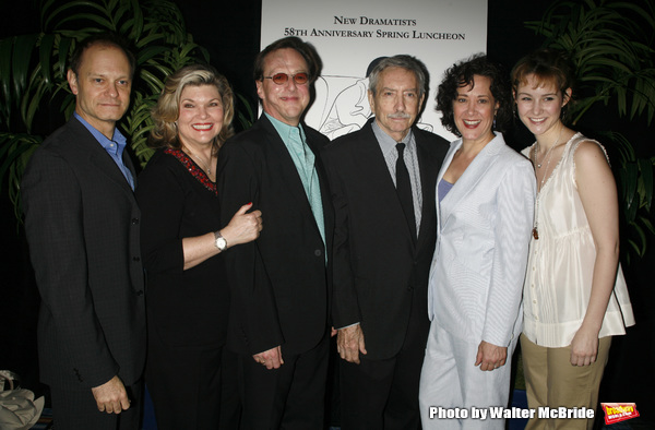 David Hyde Pierce, Debra Monk, Edward Hibbert, Edward Albee, Karen Ziemba & Jill Paice attending the New Dramatists 58th Annual Spring Luncheon to honor Edward Albee at the Mariott Marquee Hotel in New York City..May 17th, 2007.
