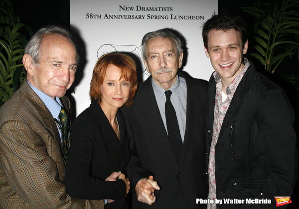 Ben Gazzara, Swoozie Kurtz, Edward Albee & Michael Arden attending the New Dramatists 58th Annual Spring Luncheon to honor Edward Albee at the Mariott Marquee Hotel in New York City..May 17th, 2007.