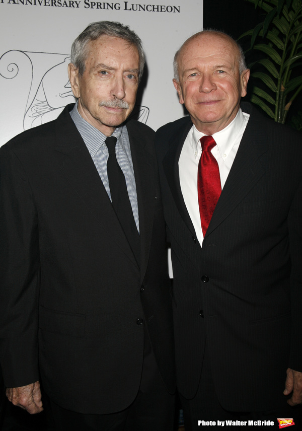 Edward Albee & Terrence McNally attending the New Dramatists 58th Annual Spring Luncheon to honor Edward Albee at the Mariott Marquee Hotel in New York City..May 17th, 2007.Edward Albee & Michael Ceveris attending the New Dramatists 58th Annual Spring Lun
