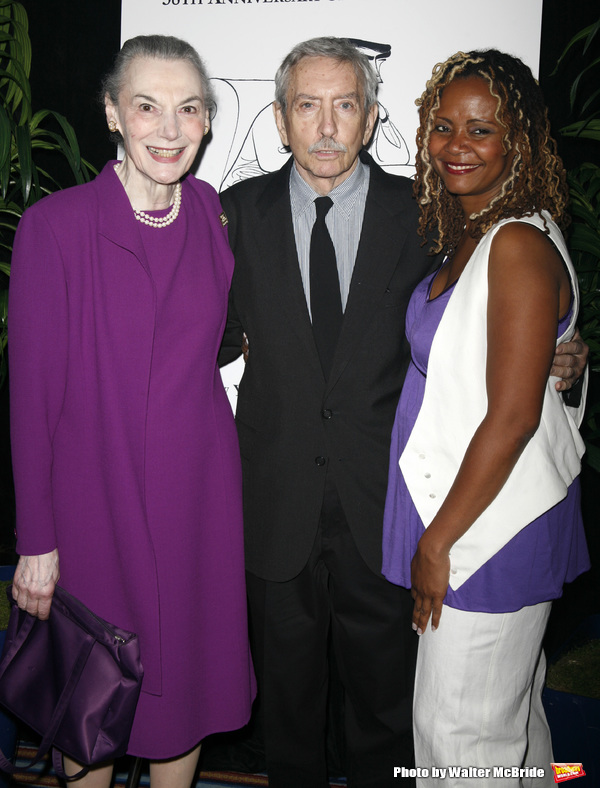 Marian Seldes & Edward Albee & Tonya Pinkins attending the New Dramatists 58th Annual Spring Luncheon to honor Edward Albee at the Mariott Marquee Hotel in New York City..May 17th, 2007.
