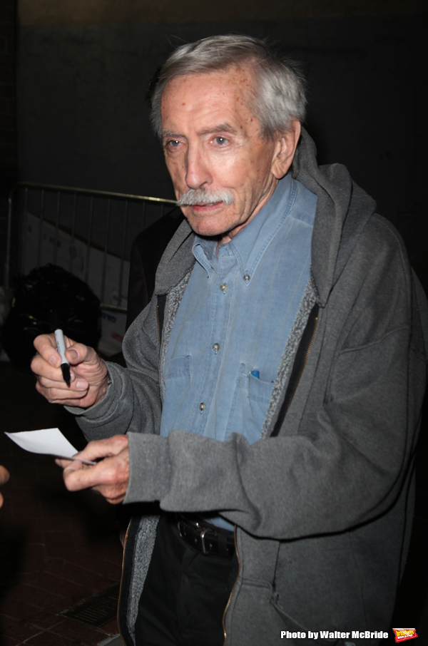 "Edward Albee arrives for the Opening Night Performance of the Signature Theatre Company's ""Angels In America""  at on October 28, 2010 in New York City...."