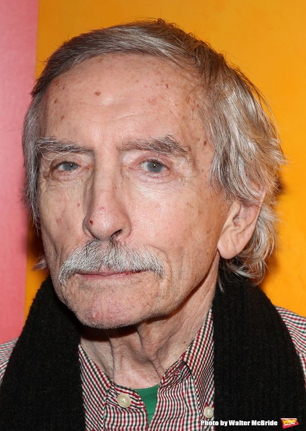 Edward Albee backstage at Times Talks: A Conversation with Tom Stoppard at the Times Center in New York City.