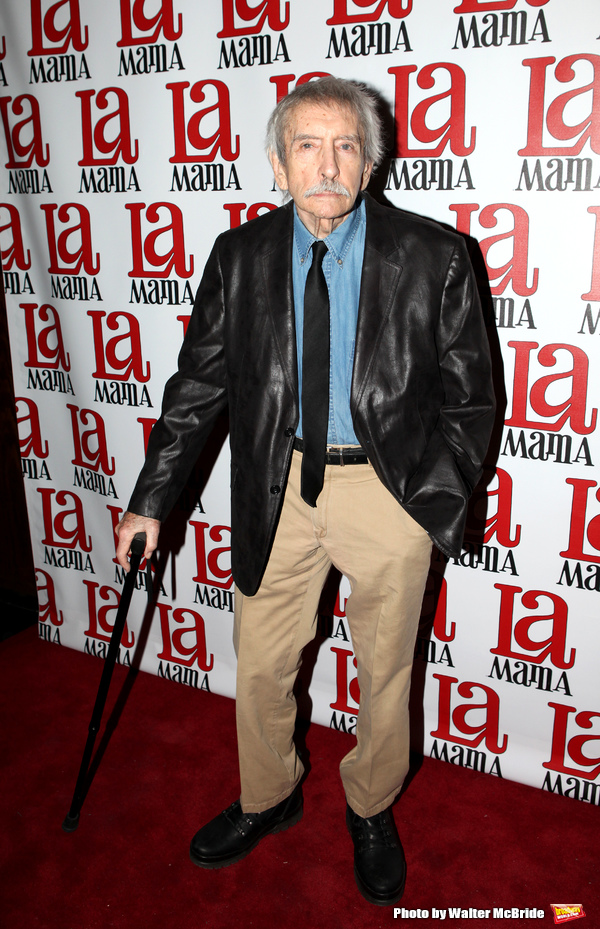 Edward Albee attending the La Mama Celebrates 51 Gala Party at the Ellen Stewart Theatre in New York City on 2/27/2013
