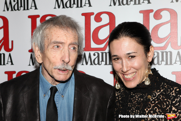 Edward Albee & Mia Yoo attending the La Mama Celebrates 51 Gala Party at the Ellen Stewart Theatre in New York City on 2/27/2013