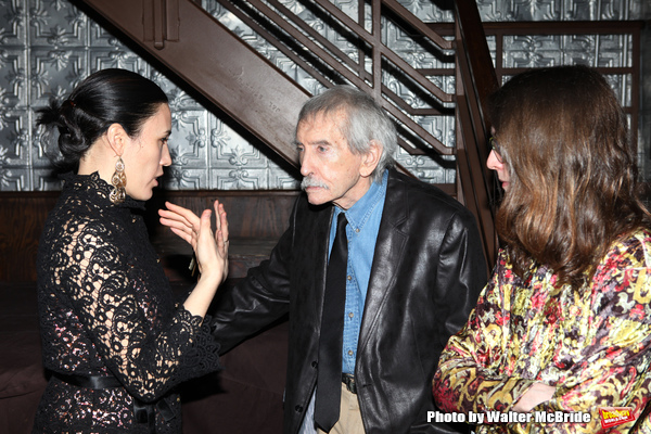 Mia Yoo & Edward Albee attending the La Mama Celebrates 51 Gala Party at the Ellen Stewart Theatre in New York City on 2/27/2013