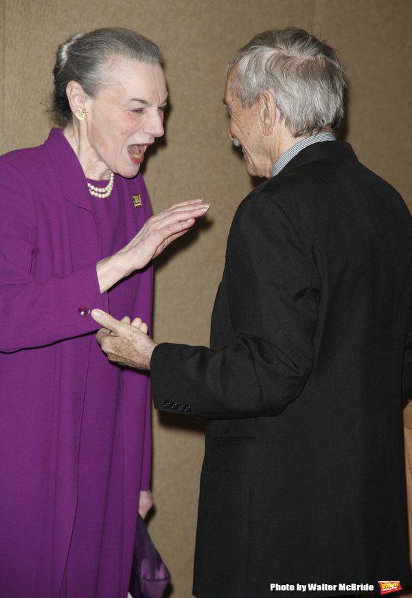 Marian Seldes & Edward Albee attending the New Dramatists 58th Annual Spring Luncheon to honor Edward Albee at the Mariott Marquee Hotel in New York City. May 17th, 2007