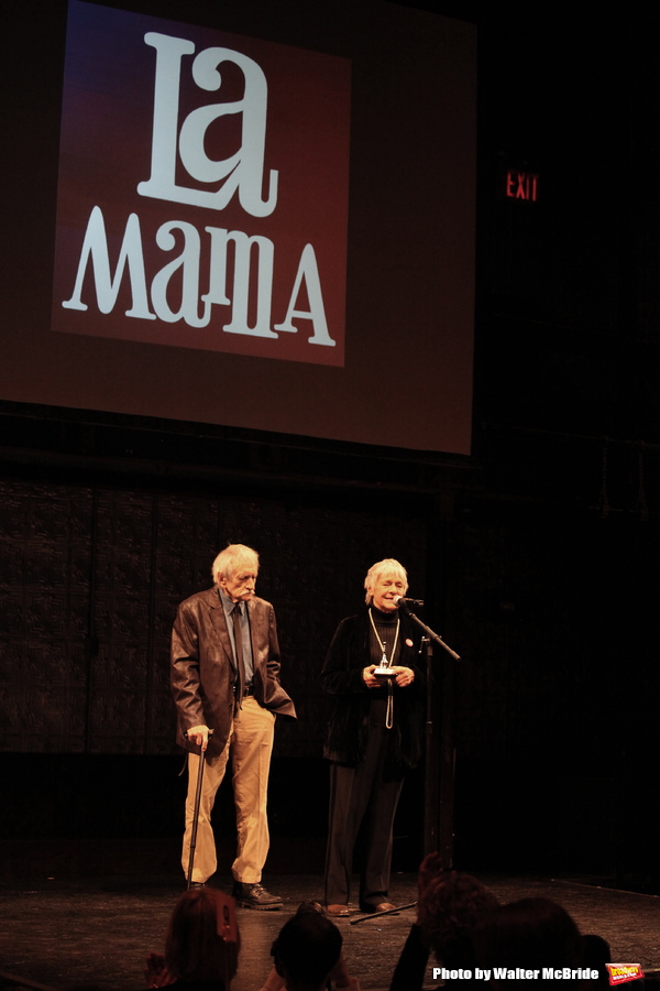 Estelle Parsons & Edward Albee during the La Mama Celebrates 51 Gala honoring Estelle Parsons & Peter Swords at the Ellen Stewart Theatre in New York City on 2/27/2013