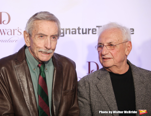 Edward Albee & Frank Gehry attending The Signature Theatre Center Opening Gala Celebration honoring Edward Norton in New York City on 1/30/2012..