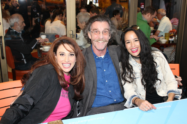 Lesli Margherita, John Glover and Courtney Reed