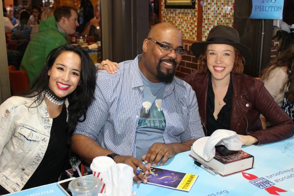 Courtney Reed, James Monroe Iglehart and Jessica Keenan Wynn