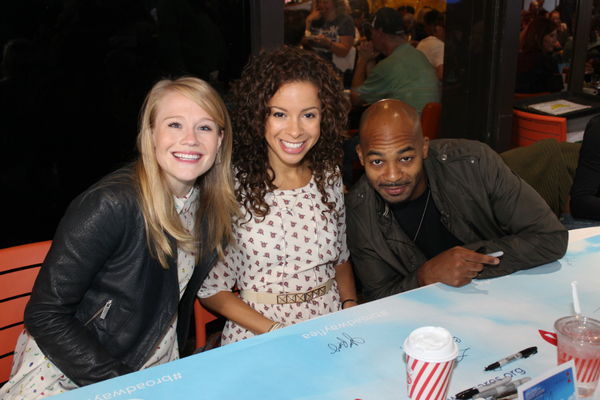 Carrie St. Louis, Lexi Lawson and Brandon Victor Dixon