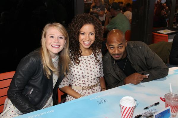 Carrie St. Louis, Lexi Lawson and Brandon Victor Dixon