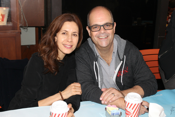 Jessica Hecht and Brad Oscar