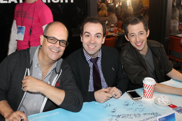 Brad Oscar, Rob McClure and Josh Grisetti