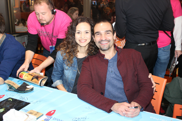 Mandy Gonzalez and Javier Munoz