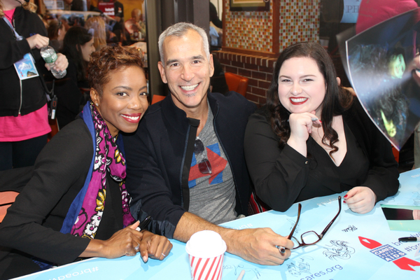 Heather Headley, Jerry Mitchell and Maddie Baillio