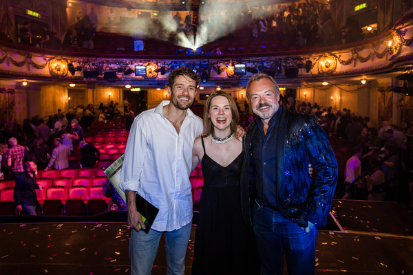 Ben Freeman, Gina Beck and Graham Norton