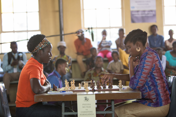 Madina Nalwanga stars as Phiona Mutesi in Disney's QUEEN OF KATWE, based on the true story of a young girl from Uganda whose world changes when she is introduced to the game of chess.  Directed by Mira Nair, the film also stars Oscar (TM) winner Lupita Ny