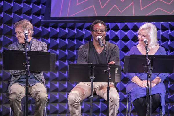Stephen Spinella, Chukwudi Iwuji, and Lisa Harrow