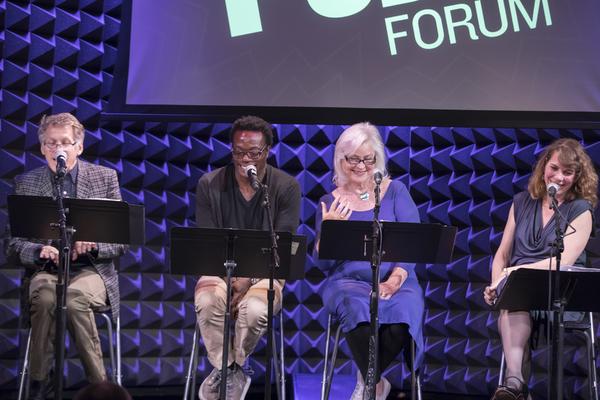 Stephen Spinella, Chukwudi Iwuji, Lisa Harrow, and Tanya Pollard