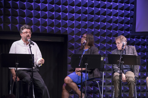 Shakespeare Society Artistic  Michael Sexton, Letitia James, and Stephen Spinella
