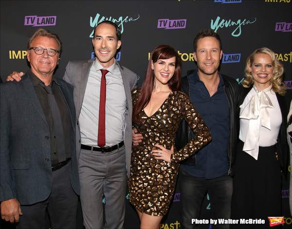 David Rasche, Mike Kosinski, Sara Rue, Michael Rosenbaum and Mircea Monroe Photo