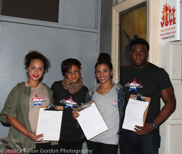 Jasmine Cephas Jones, Syndee Winters, Sasha Hollinger and Okieriete Onaodowan