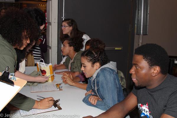 Jasmine Cephas Jones, Syndee Winters, Sasha Hollinger and Okieriete Onaodowan