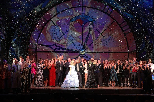 Stephen Schwartz with the Wicked Casts