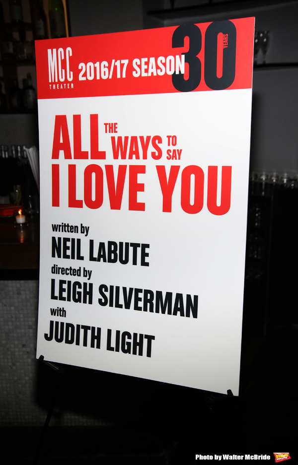 "The MCC Theater's Opening Night performance after party for ""All The Ways To Say I Love You"" at Sushisamba on September 28, 2016 in New York City."