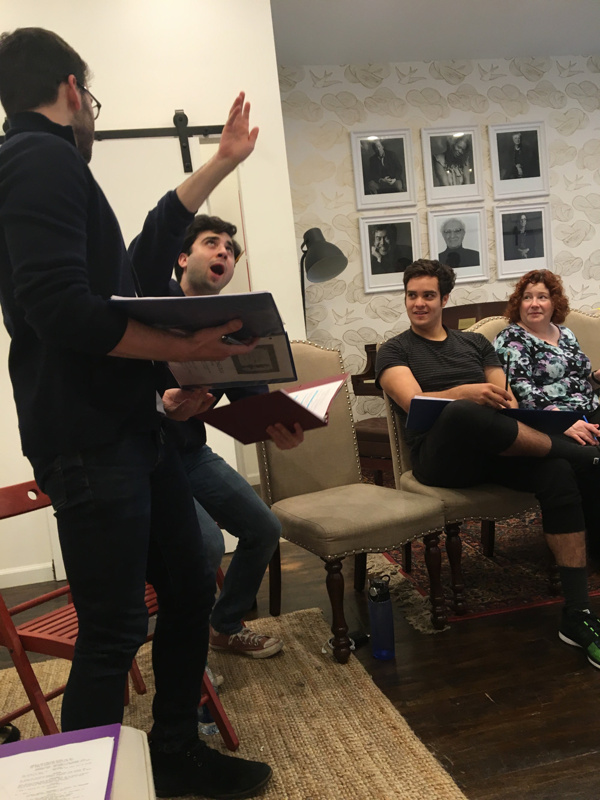 Photo Flash: In Rehearsal for THE WRONG BOX Staged Reading