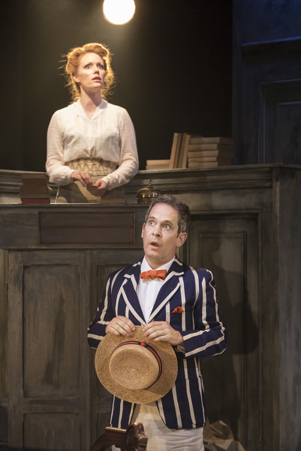 Clare Foster and Tom Hollander